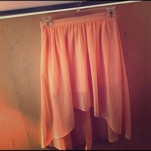 Forever 21 High Low peach skirt size medium
